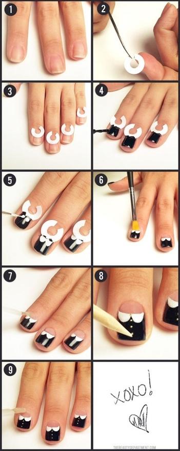 Peter Pan Collar Nails tutorial