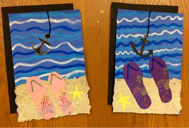 Art with Mr. Giannetto: 2nd Grade Beach Art