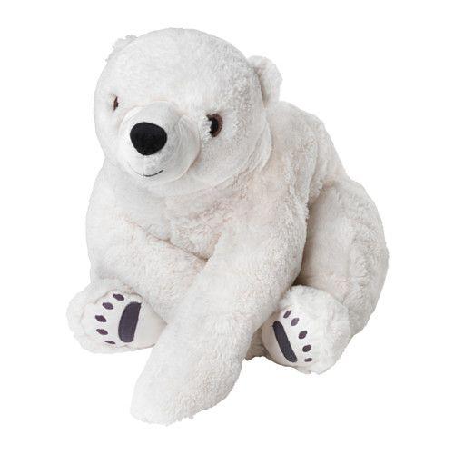 SNUTTIG Pluchen speelgoed, ijsbeer, wit ijsbeer/wit -