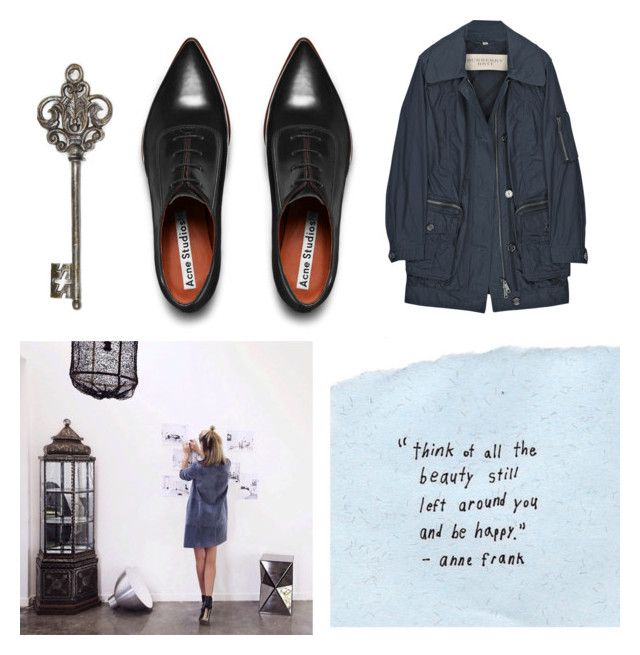 """""""idealist."""" by stephaniejs-1 on Polyvore featuring Burberry, Acne Studios and Quirky"""
