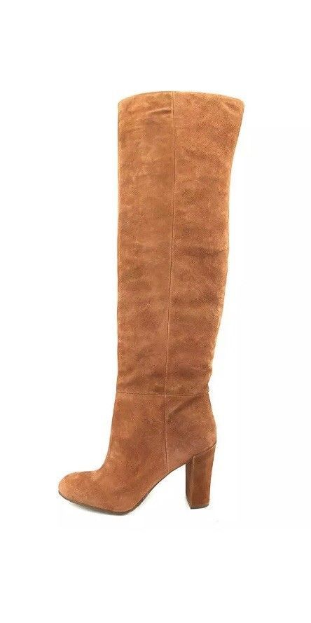 4d57a40b2de NEW Nine West Women s Snowfall Suede Slouch Boot Tan Over The Knee SIze 6.5  M