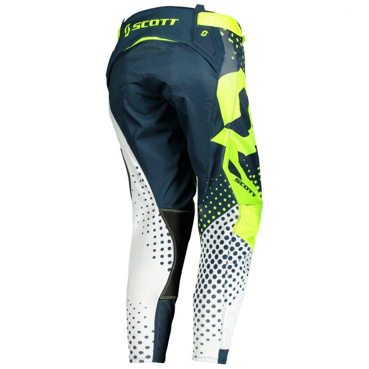 Scott 450 ANGLED / VENITLATED Pants (BLU/YEL).
