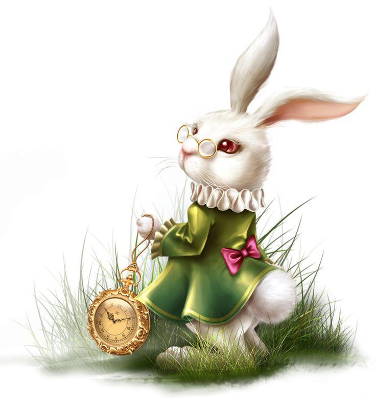 Открытки с белыми кроликами