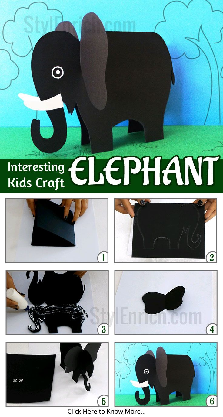 Kids often enjoy making a collection of paper animals, as a part of #DIYProjects. Paper animal collection is incomplete without this fabulous paper elephant. Grab some sheets of construction paper and get started on making this amazing and easy paper elephant.