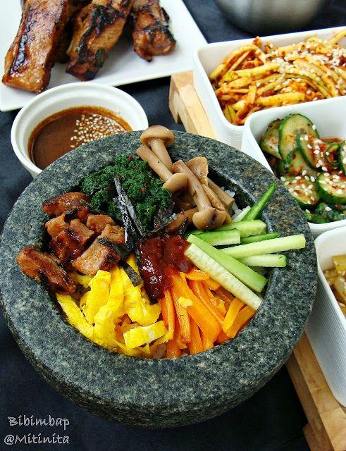 Mitinita: Retete coreene: Bibimbap-Orez amestecat cu legume,carne si pasta de ardei iute