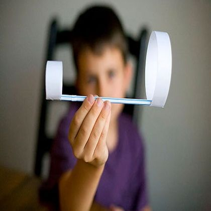 18 Awesome Homemade Toys for Toddlers - simple straw airplane