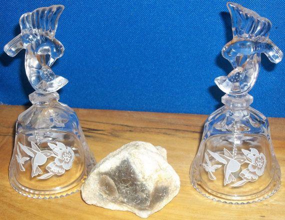 Campane di vetro Hummingbird da collezione di FranklinCrkWoodCraft