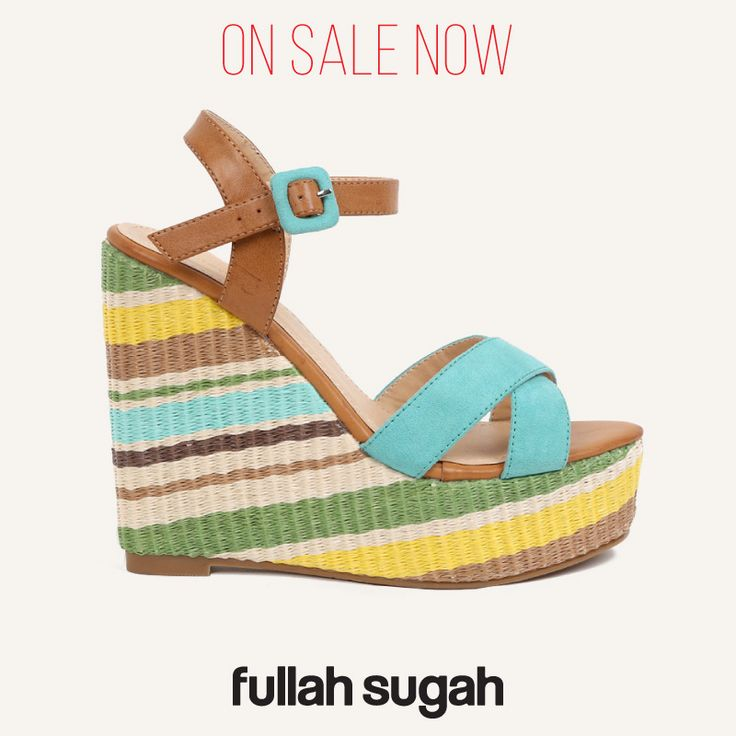 On Sale Now! Χιαστί πλατφόρμες με ρίγες | 1447100814 #sales #shoes #wedges #trends #fashion #fullah_sugah