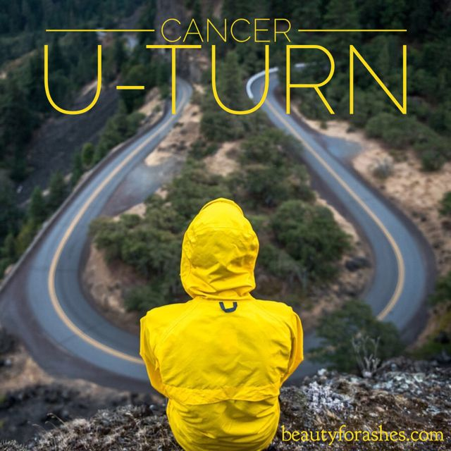 Cancer U-turn by Shirley Corder. God pulled me through that dreadful year. Not only did I survive the U-turn, I found myself travelling, as you do with a U-turn, in a different direction.