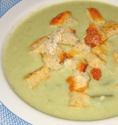 asparagus mushroom & thyme soup