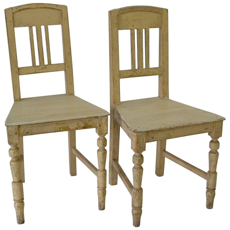 Pair of Painted Pine Chairs