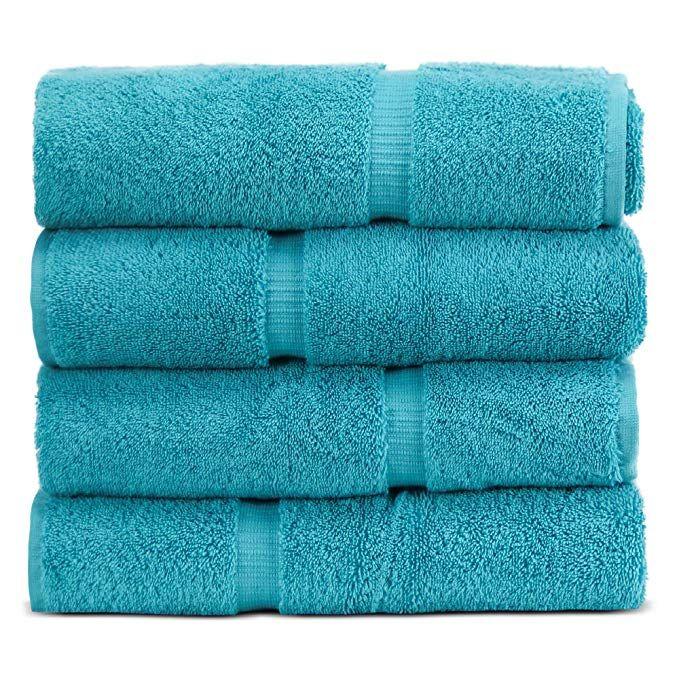 Towel Bazaar 100 Turkish Cotton 27 X 54 Inch 4 Pack Bath Towel
