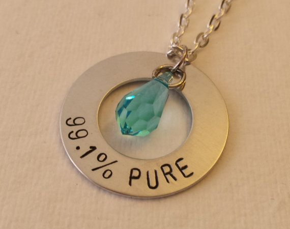 Breaking bad inspired necklace 99.1 pure blue by StampandShine, $20.99