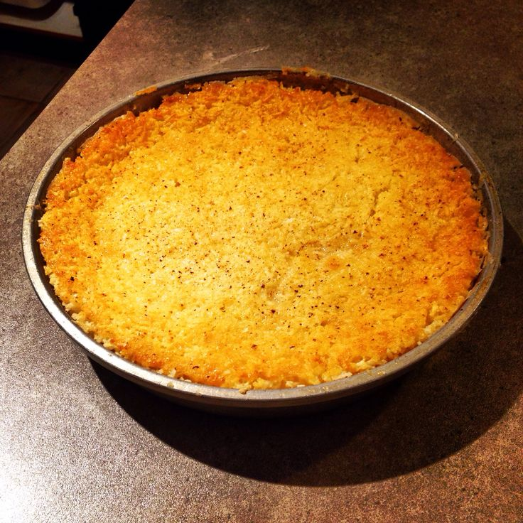 All in one coconut pie.