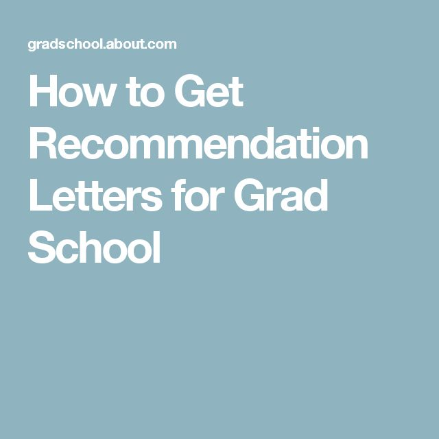 How To Go To Grad School Without Recommendation Letters