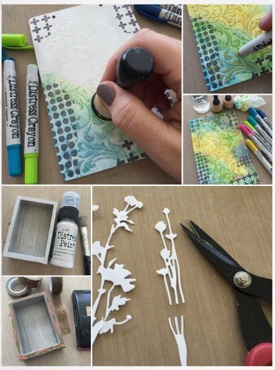 Tim Holtz mixed media project!                                                                                                                                                      More