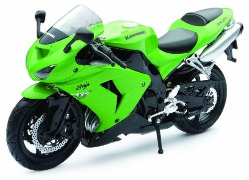 """#PopularKidsToys Just Added In Store! Green Kawasaki ZX-10R 1:12 Scale Die-Cast Motorbike Model by NewRay - Kawasaki 2006 Ninja Zx-10R 1:12 Scale Green....Die Cast With Plastic Parts .... Licensed Replica .... Road Rider Collection Motorcycle By New Ray Toys. About 7"""" In Length .... Mfg By New Ray Toys. Finely detailed licensed die-cast replicas Window style box for display Some team sponsors may change therefore image could vary slightly in appearance [amz_corss_sell asin=""""B"""