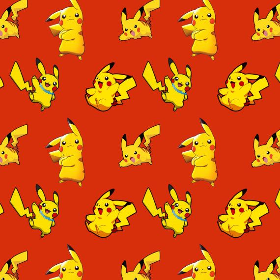 Pikachu fabric by the yard, customizable! Pokemon fabric series on Etsy, $19.99