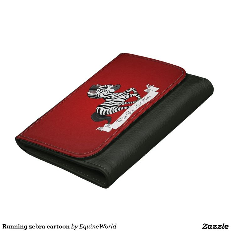 Running zebra cartoon leather wallet for women