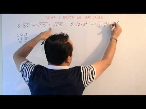 Suma y Resta de Radicales | Clases Gratis de Matemáticas - YouTube