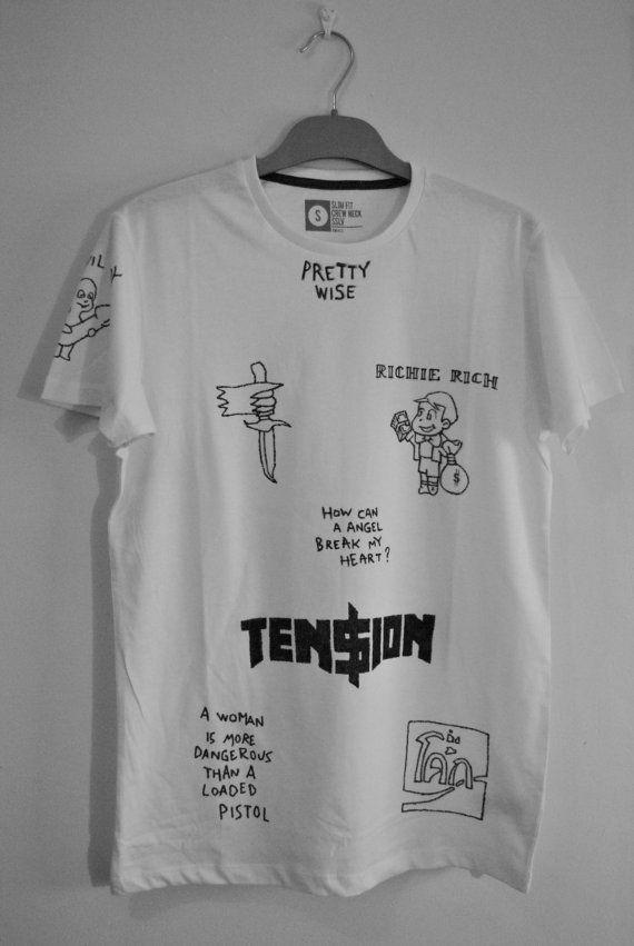 Die Antwoord - Ninja tatuajes camiseta. Elemento dibujado a mano. ZEF. Gangsta número 1. Camiseta muy sabio.
