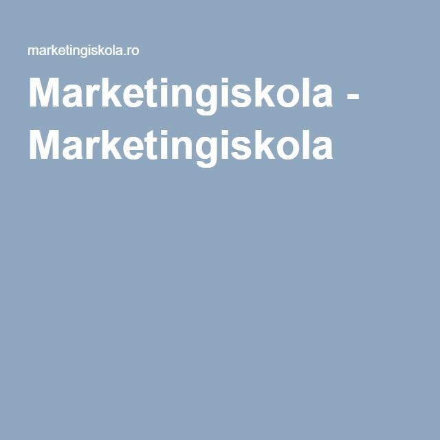 Marketingiskola - Marketingiskola