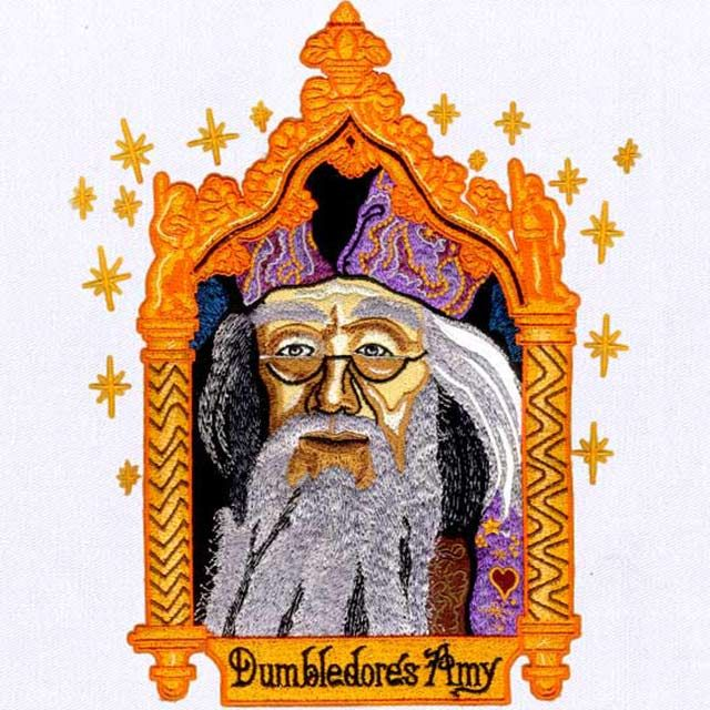 Harry Potter Card Dumbledore Embroidery Design Embroidery Digitizer