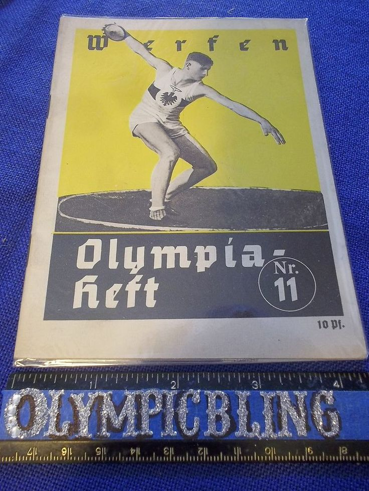 1936 Berlin Olympic Booklet Olympia Heft Nr 11 Werfen