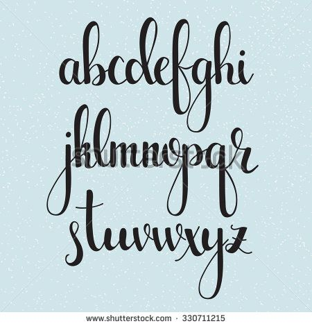 25 best ideas about cursive fonts on pinterest pretty How to write calligraphy letters az