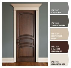 Paint colors from Chip It! by Sherwin-Williams ( door-polished mahogany )
