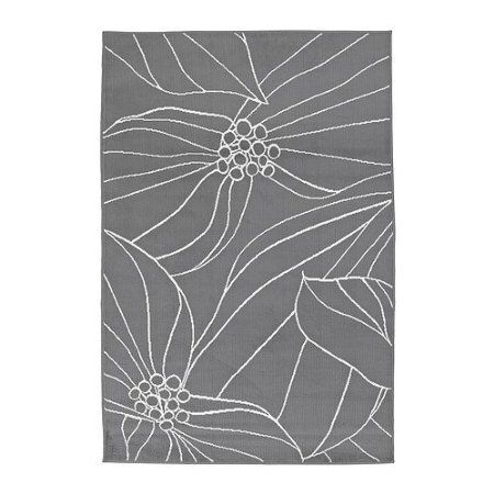 Amazon.com   IKEA GISLEV Area Rug Low Pile Modern Carpet $23 Grey White Very