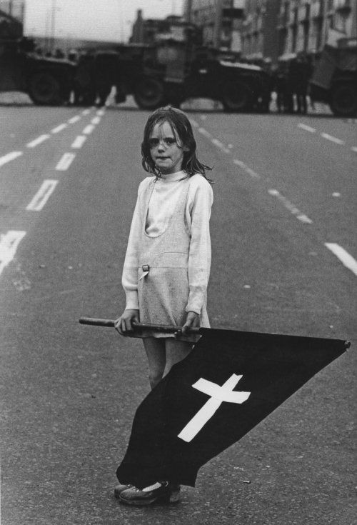 Girl at Catholic Funeral Procession in Northern Ireland byChristine Spengler, circa 1972.