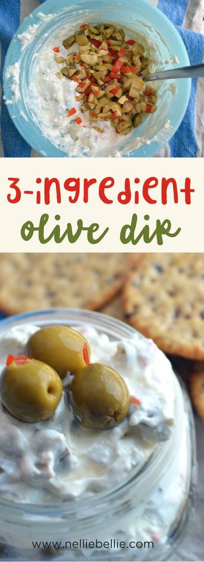 easy 3 ingredient olive dip. A great appetizer for…