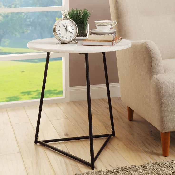 Brayden Studio® Julien Marble End Table