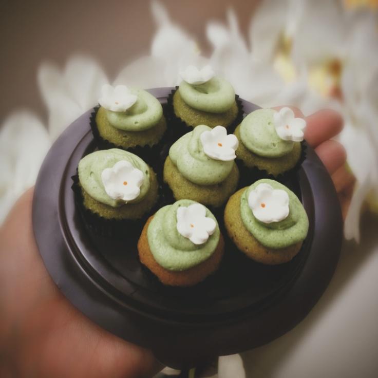 Green tea cupcakes !