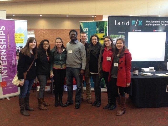 Kona Gray, Principal at EDSA, with students from University of Maryland
