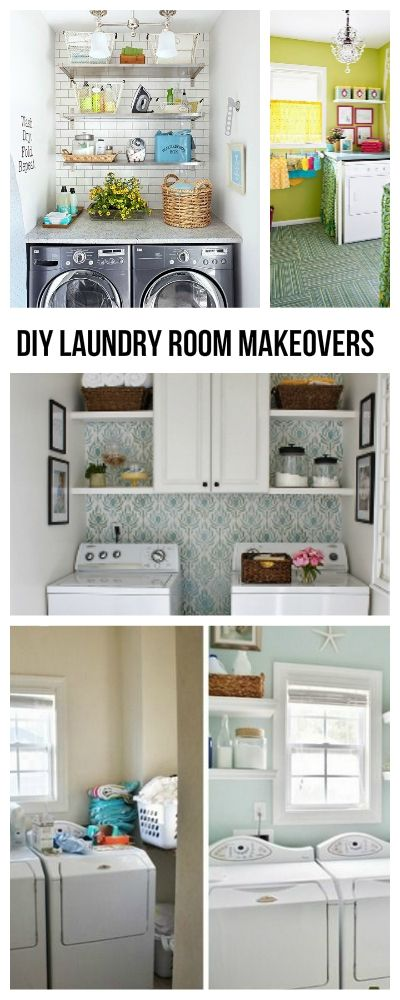 DIY Laundry Room Makeovers • Ideas, Tips & Tutorials on how to make over your laundry room into an organized space!
