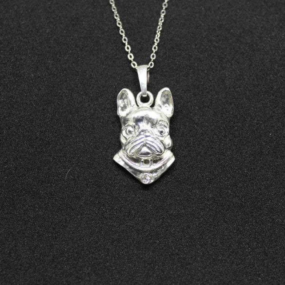 Check out Boston terrier jewelry pendant-Sterling Silver-Personalized Pet Necklace-Dog lover gift-Custom Dog Necklace-Pet Memorial Gift-Dog Mom Gift on jewelledfriend
