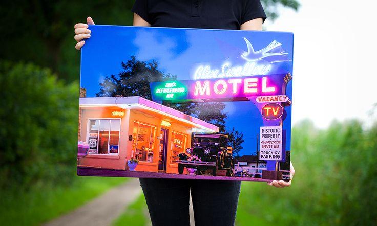 Zeer felle neon kleuren op een hoogglanzend HD Metal Canvas - Steelprint.nl