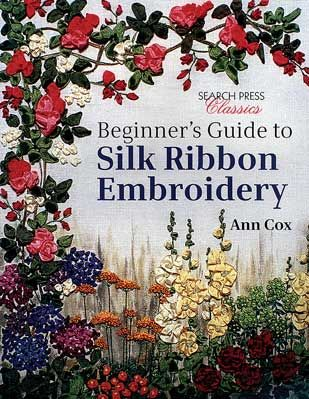 Available in print again!  This is one of the classic books on Silk Ribbon Embroidery.  Ann Cox teaches you how to create exquisite, delicately-embroidered silk ribbon flowers, including foxgloves, roses, hydrangeas, delphiniums, primroses, geraniums, irises and poppies.  Using just a small selection of stitches with detailed, step-by-step instructions and  beautiful photographs throughout, this book is the perfect introduction to the art of silk ribbon embroidery.  Soft-cover. 48 pages.
