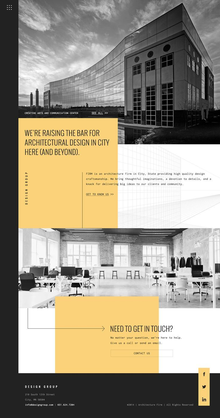 Arch Concept and Creative Architecture Website. If you like UX, design, or design thinking, check out theuxblog.com