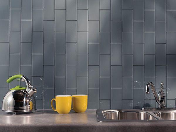 Peel U0026 Stick Backsplash Tiles Give This Kitchen A Very Cool, Modern Feel.  Http