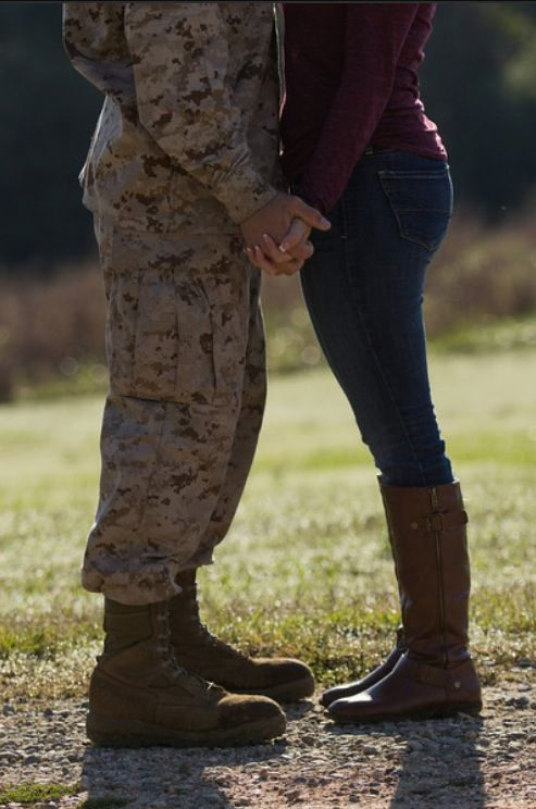 My boyfriend plans on going to the army when he graduates, ( 2 years before me ) and, I think this would be a really cute idea for photos before he leaves, when he comes home, or in his JROTC uniform.❤