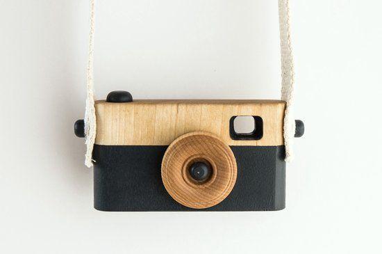 FUJL - Houten handgemaakte speelgoed camera – fotocamera – Camera – Donker Blauw