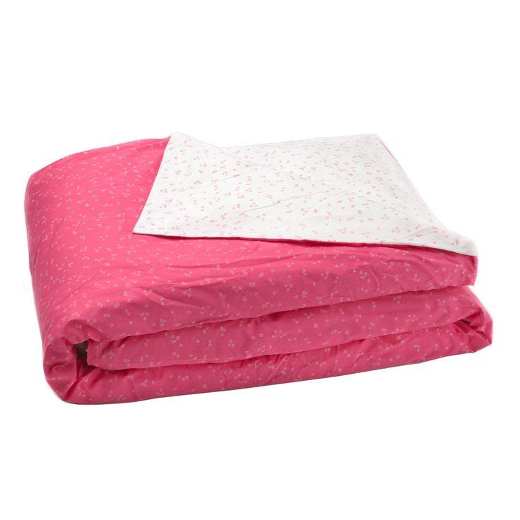 Queen/Double Duvet Cover Pink Flutter