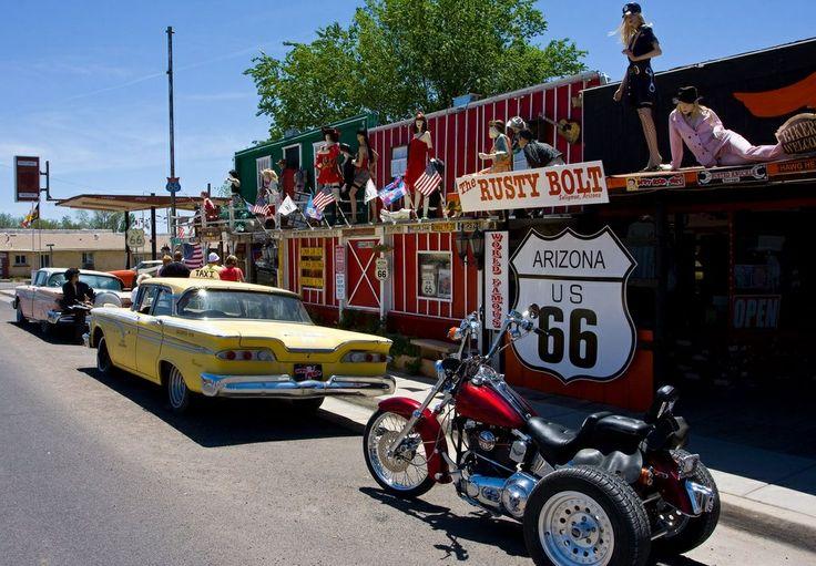 Seligman ligt op de Route 66 en is genoemd naar Jesse Seligman, een van de financiers van de spoorlijn die de plaats sinds 1882 doorkruist.
