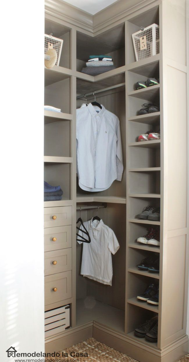 DIY - Small Closet Makeover - The Reveal in 2019 | Storage ...