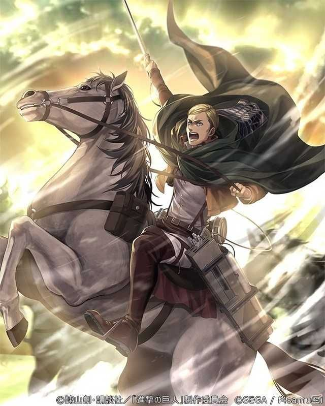 Erwin Smith Official Arts In Uniform Imgur In 2020 Attack On Titan Attack On Titan Anime Attack On Titan Art