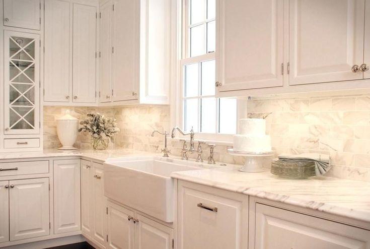 Best White Backsplash Tile For Kitchen White Subway Backsplash 400 x 300