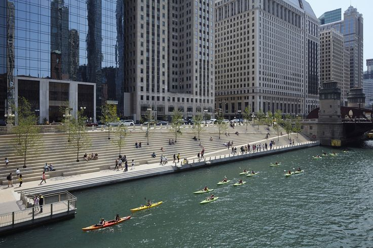 Chicago Riverwalk Opens to the Public, Returning the City to the River